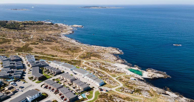Myklebust - boligfelt rett ved sjøen